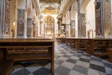 Interno Del Duomo Di Sant'andrea Di Amalfi, Campania