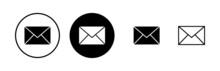 Mail Icons Set. E-mail Icon. Envelope Illustration. Message