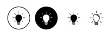 Lamp Icons Set. Light Bulb Icon Vector. Idea Vector Icon