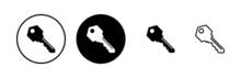 Key Icons Set. Key Vector Icon. Key Symbol