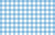 Blue Gingham Fabric Square Checkered Seamless Pattern Vintage Background Vector