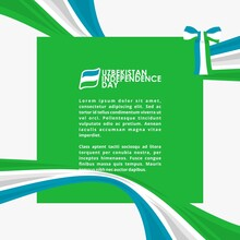 Vector Illustration Of 1st September Uzbekistan Happy Independence Day. Web Header Or Banner Design With Stylish Text 1st September And Abstract Ornament Background.