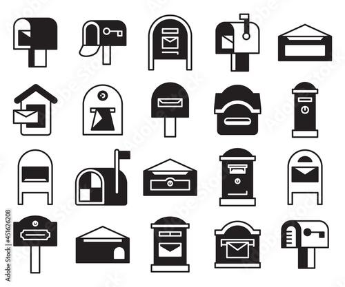 Obraz na plátně mailbox and postbox icons set vector