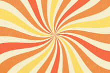 Retro Background Groovy 60s 70s Poster. Rainbow Pastels Swirl Twisting Colorful Background.