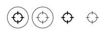 Target Icon Set. Goal Icon Vector. Target Marketing Icon Vector