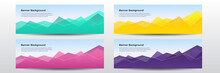 Colorful Wavy Gradient Shape Abstract Background. Colorful Banner Template. Abstract Web Banner Design. Header, Landing Page Web Design Elements.