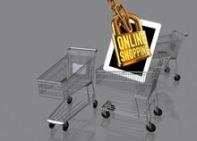 Online Shopping, Conceptual Illustration