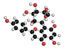 Vitexin Passion Flower Molecule, Illustration