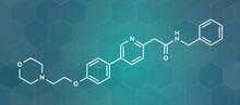 Tirbanibulin Actinic Keratosis Drug Molecule, Illustration