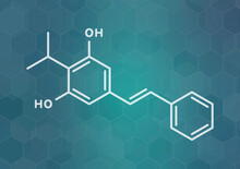 Benvitimod Psoriasis Drug Molecule, Illustration