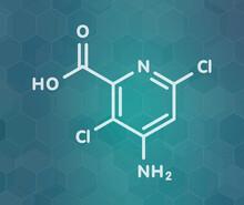 Aminopyralid Herbicide Molecule, Illustration