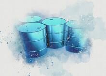 Oil Drums, Illustration