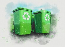 Recycling, Conceptual Illustration