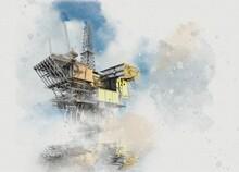 Oil Platform, Illustration