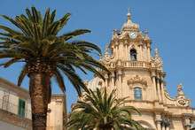 The Famous Collegiate Cathedral Of San Giorgio Is The Main Catholic Place Of Worship Of Ragusa, One Of The Most Important Monuments Of The City Of Ragusa.