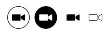 Video Camera Icons Set. Video Camera Vector Icon. Camera Icons. Movie Sign. Cinema