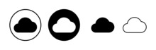 Cloud Icons Set Vector. Cloud Computing Icon