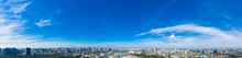 Supersize Panorama Blue Sky With Clouds On The Sky As Background
