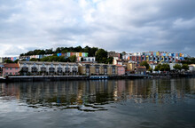 View Of The Famous Colorful Houses On The Bristol Harbourside