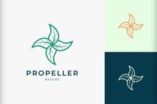 Leaf Propeller Logo For Health Or Medicine Brand