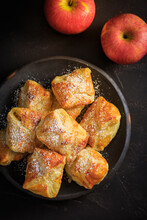 Homemade Small Apple Turnovers In Bowl