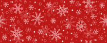 Red Christmas Seamless Star And Snowflake Background Banner