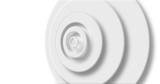 Image of white circle layers pulsating on white background