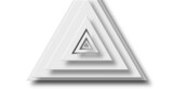 Image of grey triangle layers pulsating on white background