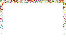Blue Circle Event Background. Confetti Circular Illustration. Orange View Dot. Yellow Cartoon Round Texture.
