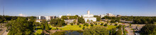 Aerial Panorama Cascades Park Downtown Tallahassee