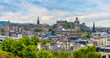 A view from the top of Calton Hill across the centre of, Edinburgh, Scotland on a summers day