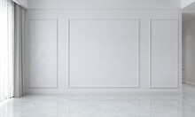 The Empty Living Room And Mock Up Furniture Decoration And White Wall Background