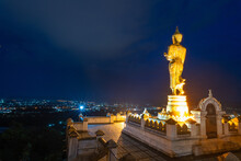 Wat Phrathat Khao Noi .This Temple Is The Best Location View Of Nan Province, Thailand.