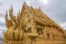 Golden Temple At Wat Sri Panthon Temple , Nan City , Thailand