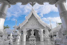 Wat Ming Muang, The White Temple Of Nan Province North Of Thailand