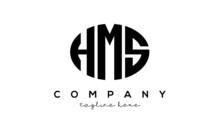 HMS Three Letters Creative Circle Logo Design
