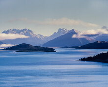 Lake Wakatipu And Snow Capped Mountains In The Background