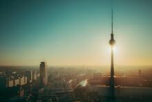 Morning Sun Berlin Tv Tower