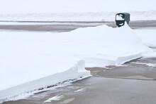 Driveway And Deep Snow