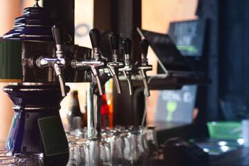 Ogródek sprzedający napoje i piwo
