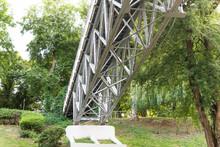 Bottom View Of The Pedestrian Bridge