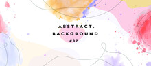 Abstract Ink Drop Background Pattern Set With Dummy Text For Web Design, Landing Page, Wedding Template, And Print Material.