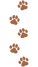 かわいい動物の足跡のイラスト(茶色)