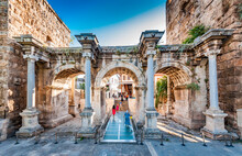 The Hadrian Gate In Antalya City.
