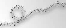 Grey Musical Background Illustration