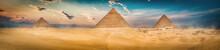 Three Pyramids In The Desert