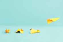 Paper Airplane Success Concept