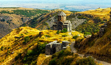 Vagrmashen Church Was Founded In XI Century Castle Near The Armenian Amberd, Located On The Hillside Aragats.