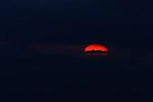 Dark Sunset Red Sun