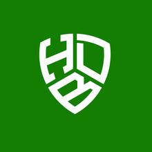 HDB Letter Logo Design On Blue Background. HDB Creative Initials Letter Logo Concept. HDB Letter Design.